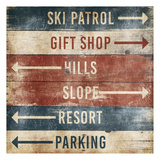 Ski Info Sign Posters by Jace Grey
