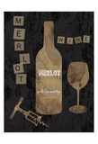 Merlot Wine Posters by Sheldon Lewis