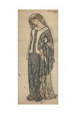 Figure of Guinevere Giclee Print by William Morris