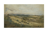 View of Bodenham and the Malvern Hills, Herefordshire Giclée-Druck von John Varley