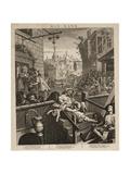 Gin Lane Giclée-tryk af William Hogarth