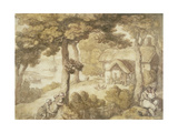 Landscape, Isle of Wight Giclee Print by Thomas Rowlandson