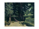 The Avenue at the Jas De Bouffan Giclee Print by Paul Cézanne