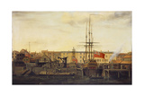 A Dockyard at Wapping Giclee Print by Francis Holman