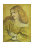 Woman in Yellow Giclee Print by Dante Gabriel Rossetti