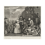 A Rake's Progress (Plate 4) Giclee Print by William Hogarth