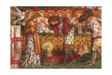 How Sir Galahad, Sir Bors & Sir Percival Were Fed with Sanct Grael; But Sir Percival's Sister Died Giclee Print by Dante Gabriel Rossetti