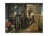 Dziewczyna przy pianinie Wydruk giclee autor Duncan Grant