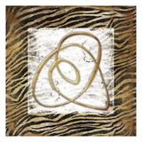 Jace Grey - Abstract Gold Zebra Obrazy