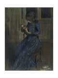 Girl in a Blue Dress Giclee Print by Philip Wilson Steer