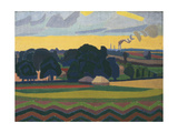 The Beanfield, Letchworth Giclee Print by Spencer Gore