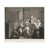 A Rake's Progress (Plate 5) Giclee Print by William Hogarth