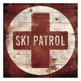 Red Ski Patrol Prints by Jace Grey