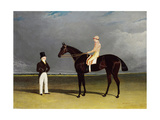 Birmingham with Patrick Conolly Up, and His Owner, John Beardsworth Giclee Print by John Frederick Herring