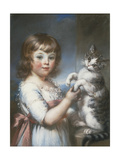 Boy and Cat Giclee Print by John Russell