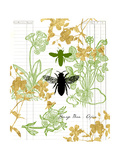 Garden Botanicals & Bees Art by Devon Ross