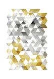 Golden Grey Triangles Mate Art by  OnRei