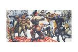 Soldiers at Rye Giclee-trykk av Edward Burra
