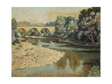 Bridge over the Allier Giclee Print by Roger Fry