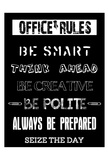 Office Rules 2 Prints by Sheldon Lewis