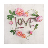 Flower For Love Heart Print by Heather Johnston