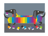 Wiener Dogs Giclee Print by  Anderson Design Group
