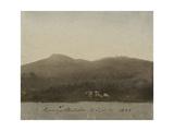 Evening at Llanberis, North Wales Giclée-Druck von Cornelius Varley