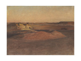 The Libyan Desert, Sunset Giclee Print by Sir William Blake Richmond