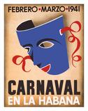 Cuba - Carnaval en la Habana Giclée-tryk af Pacifica Island Art