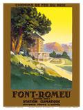 Font-Romeu - Odeillo - Chemins de fer du Midi (French Railway Company) Print by  Pacifica Island Art