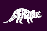 Triceratops Plastic Sign
