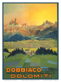 Entrance to the Paradise of the Dolomites Mountains Posters by  Pacifica Island Art