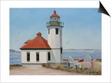Alki Point Lighthouse Posters by Julie Peterson