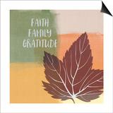 Faith Family Gratitude Prints by Linda Woods