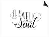It Is Well with My Soul White Print by Amy Cummings