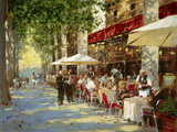 Cafe Apres-Midi Wood Print by John Haskins