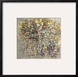 Mondrian: Composition, 1913 Framed Giclee Print by Piet Mondrian