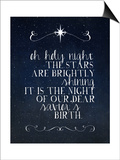 Oh Holy Night Posters by Amy Cummings