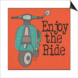 Vespa - Enjoy the Ride Posters by Shanni Welch