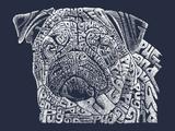 Pug Plastic Sign