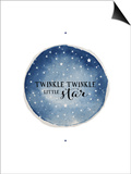 Twinkle Little Star Circle Posters by Amy Cummings