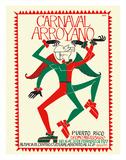 Carnaval Arroyano - Puerto Rico Giclée-tryk af José Rosa