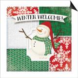 Winter Welcome Snowman Art by Jennifer Pugh