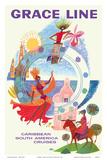 Caribbean - South America Cruises Affischer av David Klein