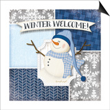 Winter Welcome - Snowman Poster by Jennifer Pugh