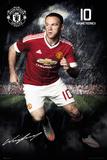 Manchester United- Rooney 15/16 Plakaty