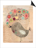 Thank You Bird Poster by Katie Doucette