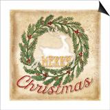 Merry Christmas Print by Jennifer Pugh