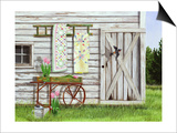 Garden Shed and Swallow Posters by Julie Peterson