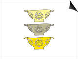 Yellow Colander Prints by Amy Cummings